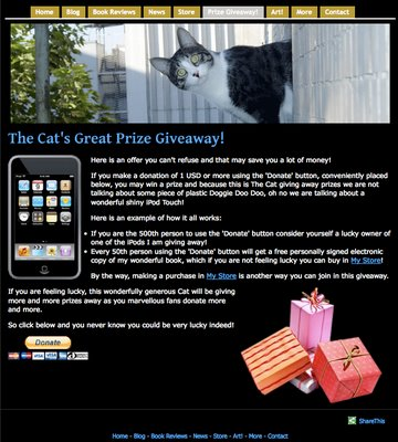 The Cat's Prize Giveaway