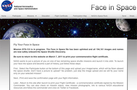 NASA Face in Space update