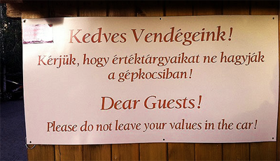 A very Moral Sign From Hungary