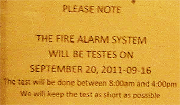 Fire Alarm Testes Check How Long Too