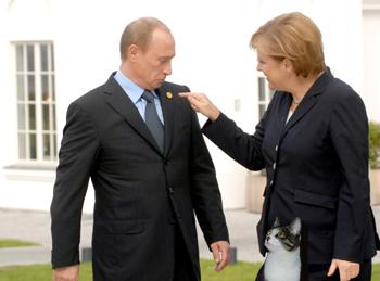 Putin Merkel The Cat