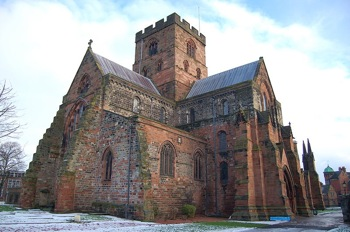 Carlisle Cathedral in snow