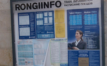 Train Timetable From The Tallin Bureau Of Disinformation