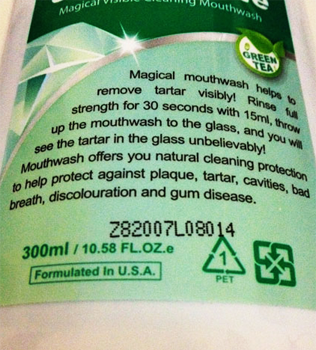 For best results throw up mouthwash into the glass