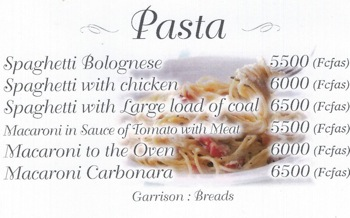 Spaghetti speciality from Malabo Equatorial Guinea