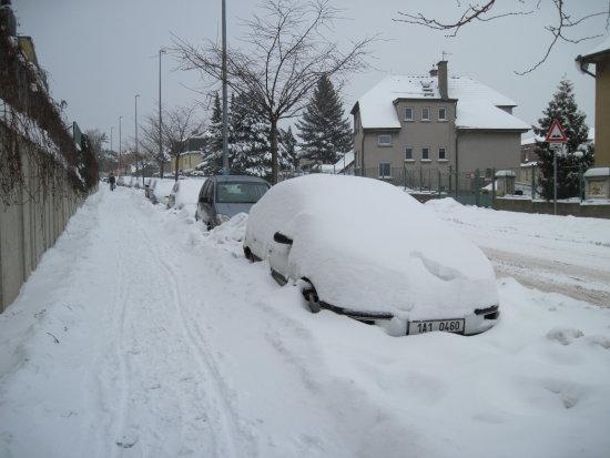 Snow Prague