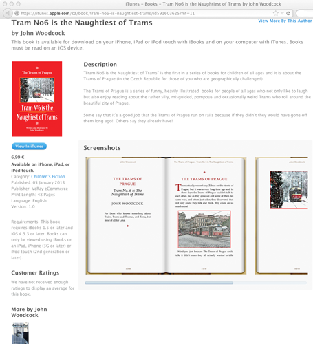 Trams of Prague on iBooks