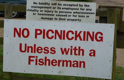There s never a fisherman around when you need one