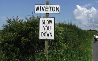 The Norfolk dialect sometimes comes through in the signage