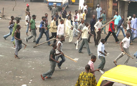 NURTW members during a clash in Lagos 796237916