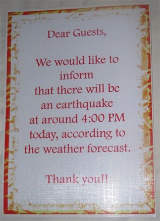 Sounds bad Burma btw they did have an Earthquake