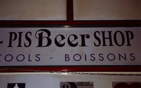 Pis its French for beer