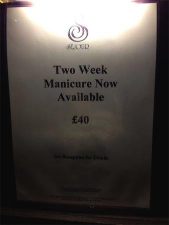 Tedious nail job London