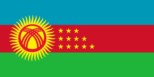 Kyrzbekistan Flag