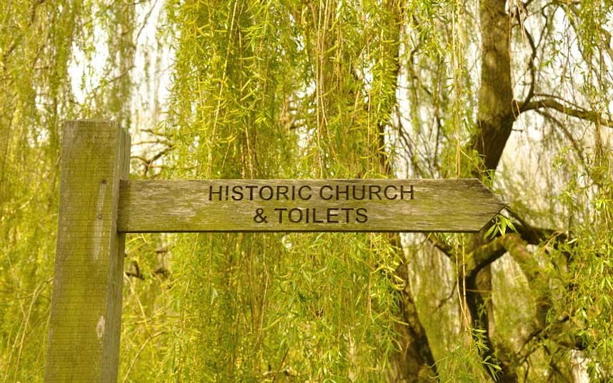 The Toiltes were monumental Bibury The Cotswolds