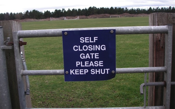 Scottish self closing gates