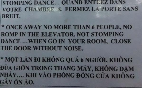Lift nonsense again from Ho Chi Minh City Vietnam