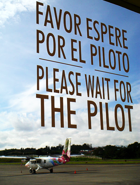Sensible Instructions At Tobias Bolanos Airport Costa Rica
