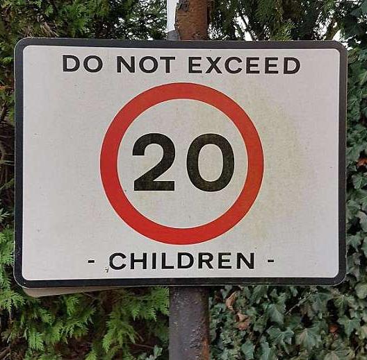 A sensible sign at last