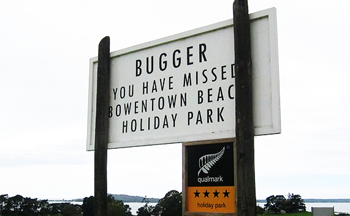 A message from the  New Zealand tourist board