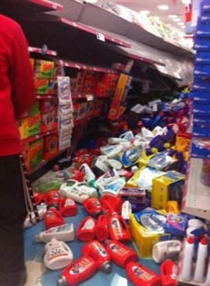 Spillage in aisle 3