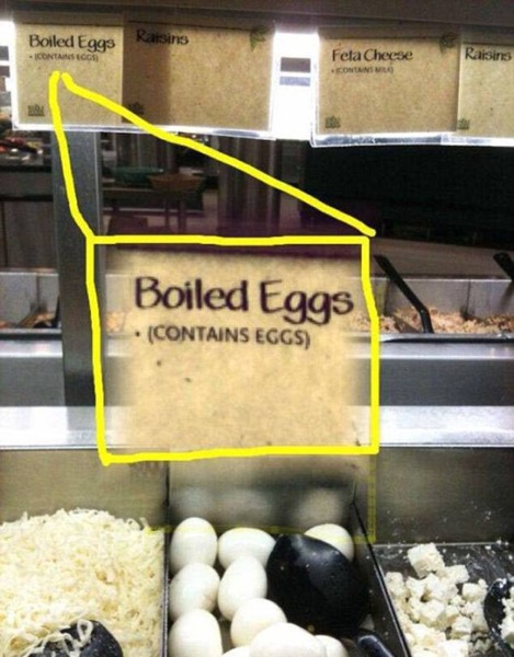Contains egg